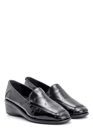 Kadın Dolgu Topuklu Rugan Ayakkabı