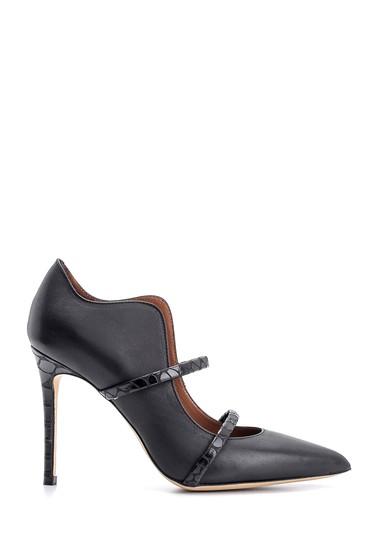 Siyah Kadın Deri Topuklu Ayakkabı 5638108346