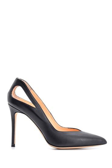 Siyah Kadın Deri Stiletto 5638108396