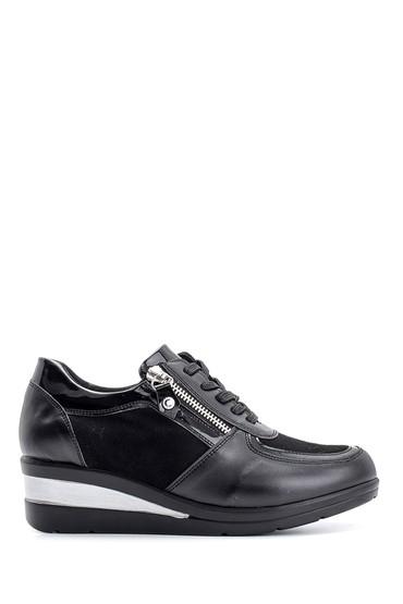 Siyah Kadın Fermuar Detaylı Spor Ayakkabı 5638116027