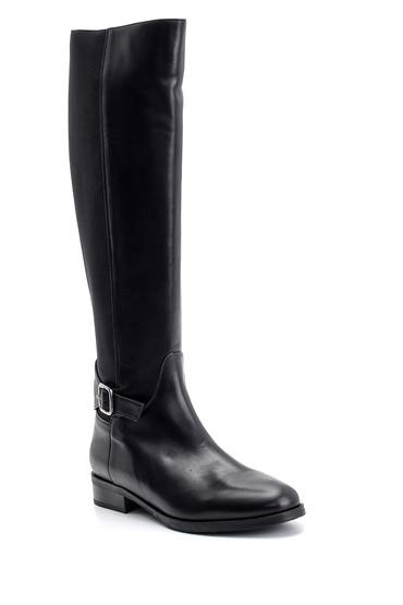 Siyah Kadın Casual Deri Çizme 5638098277