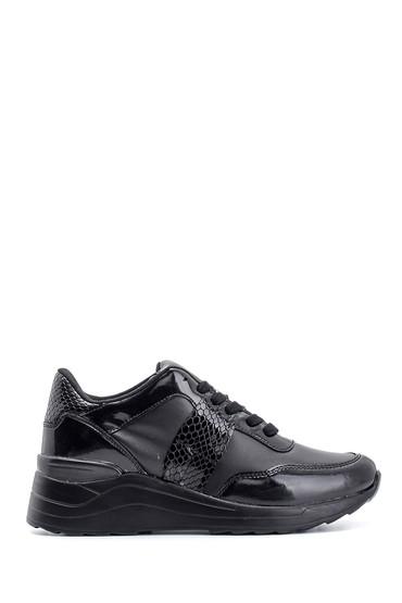 Siyah Kadın Yüksek Tabanlı Sneaker 5638112099
