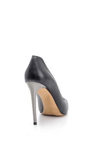Kadın Topuk Detaylı Deri Stiletto