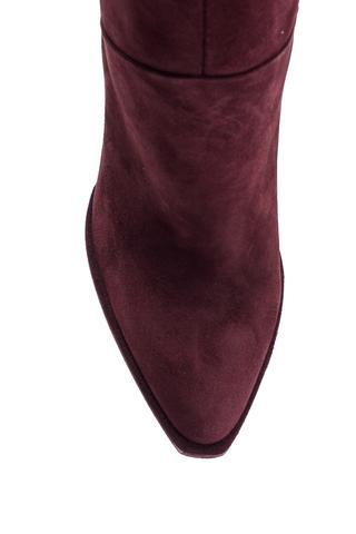 Kadın Topuklu Süet Deri Çizme
