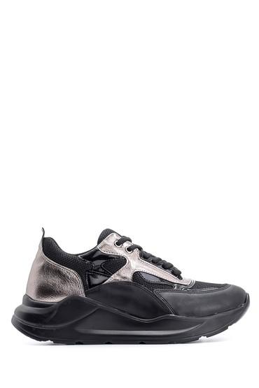 Siyah Kadın Yüksek Tabanlı Sneaker 5638117513