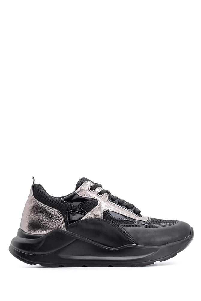 Siyah Kadın Yüksek Tabanlı Sneaker 5638117519