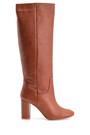 5638121827 Kadın Topuklu Deri Çizme