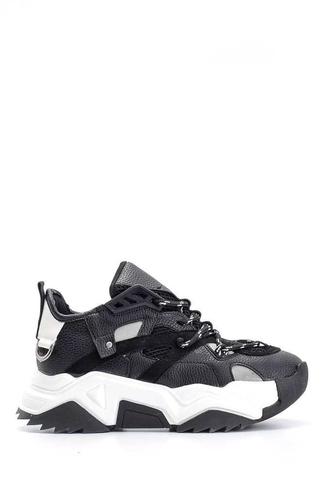 Siyah Kadın Yüksek Tabanlı Sneaker 5638145089