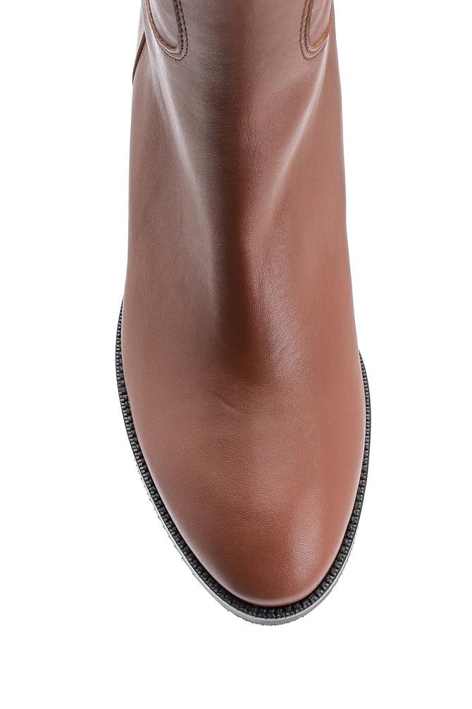5638122590 Kadın Topuklu Deri Çizme
