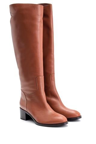 Kadın Topuklu Deri Çizme