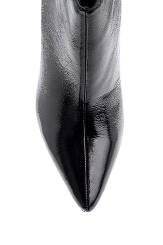 Kadın Rugan Deri Topuklu Bot