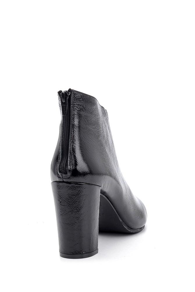 5638092991 Kadın Rugan Deri Topuklu Bot