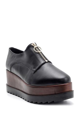 Kadın Yüksek Tabanlı Fermuarlı Ayakkabı