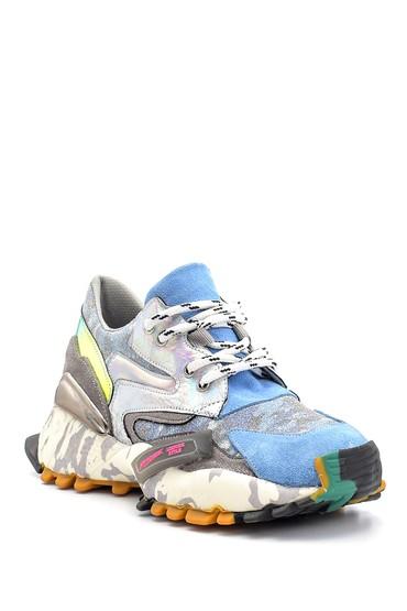 Mavi Kadın Yüksek Tabanlı Desenli Sneaker 5638114492
