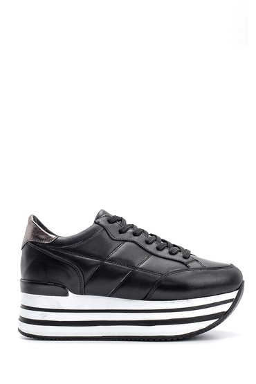Siyah Kadın Yüksek Tabanlı Sneaker 5638116009