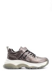 5638117543 Kadın Yüksek Tabanlı Rugan Detaylı Sneaker