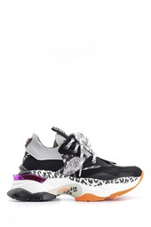 5638128758 Kadın Renkli Yüksek Tabanlı Sneaker