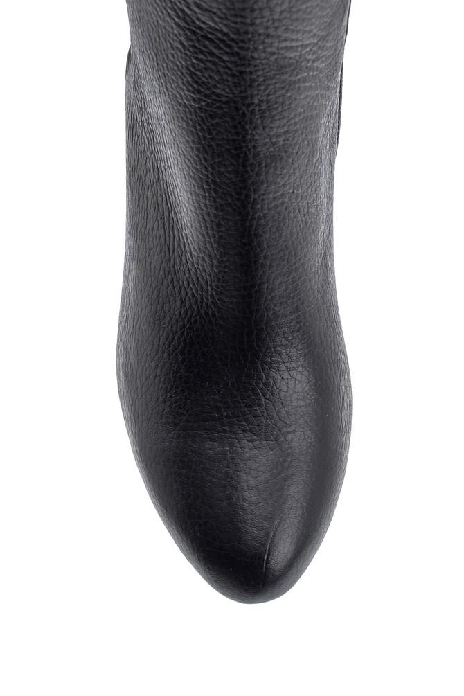 5638122687 Kadın Topuklu Deri Çizme