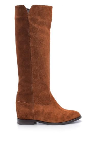 Kahverengi Kadın Süet Deri Çizme 5638087955