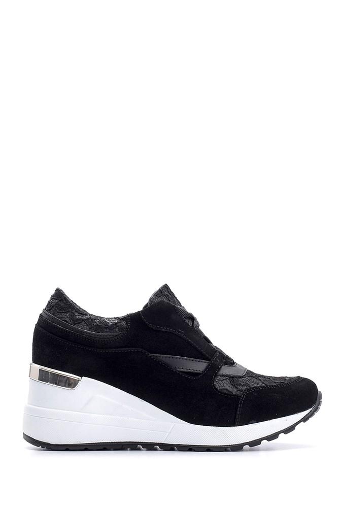 Siyah Kadın Yüksek Tabanlı Sneaker 5638094035