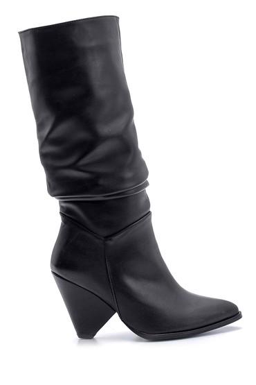 5638102117 Kadın Topuklu Çizme