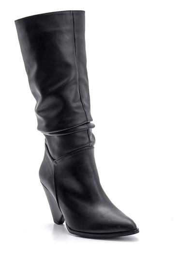 Siyah Kadın Topuklu Çizme 5638102117
