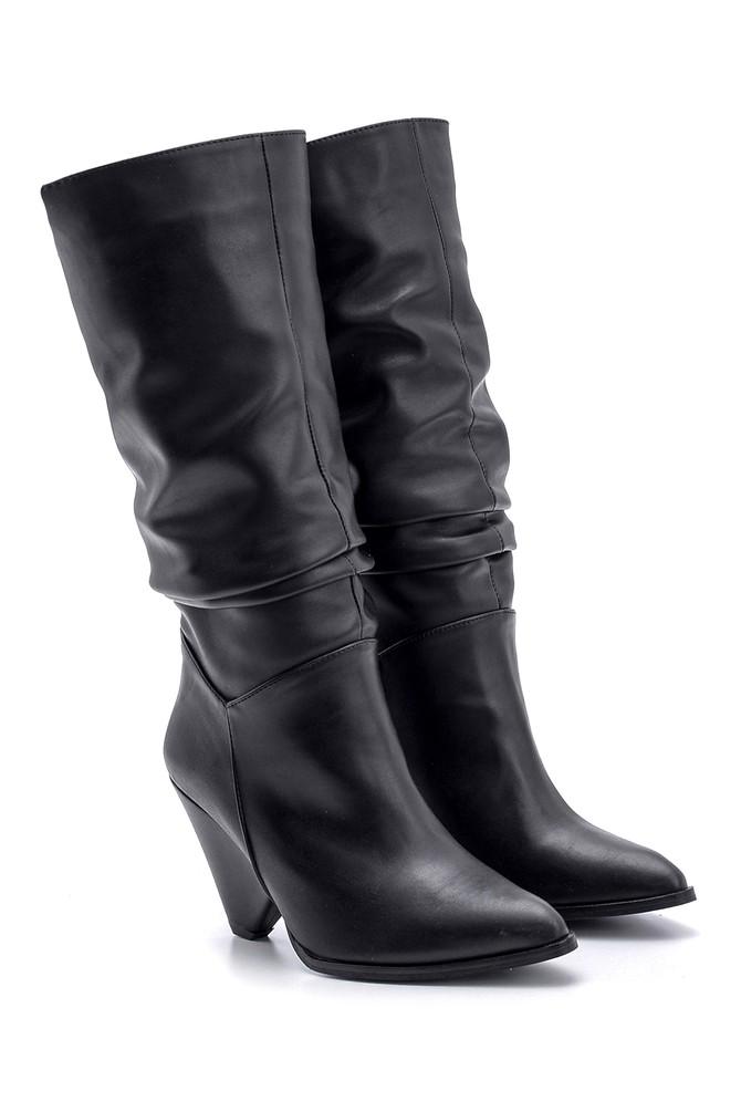 5638102115 Kadın Topuklu Çizme