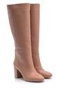 5638114007 Kadın Topuklu Deri Çizme