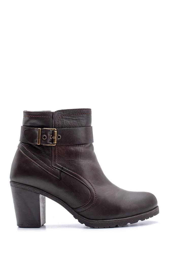 Kahverengi Kadın Topuklu Deri Bot 5638116207