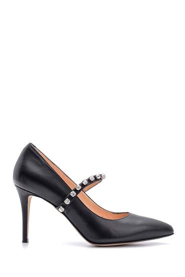 Siyah Kadın Deri Stiletto 5638114883