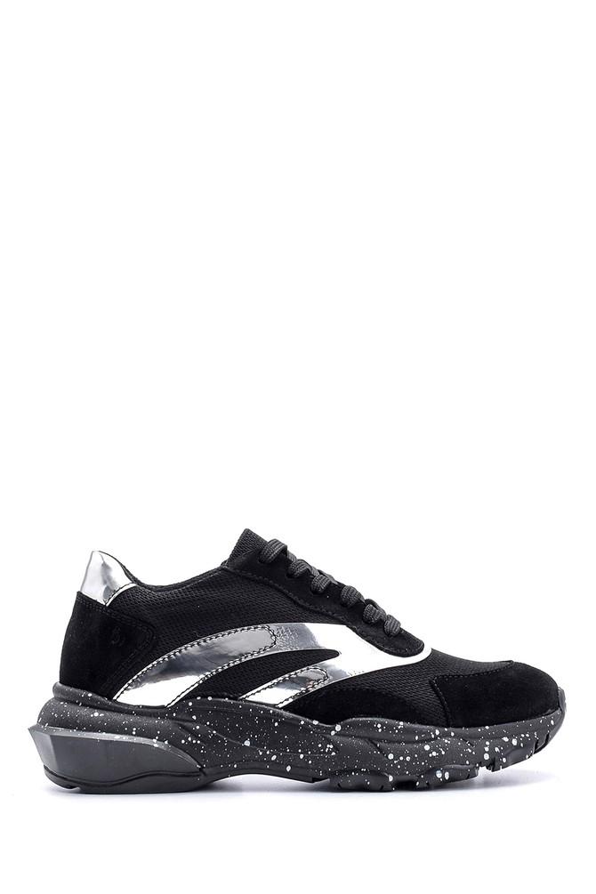 5638119062 Kadın Süet Detaylı Sneaker