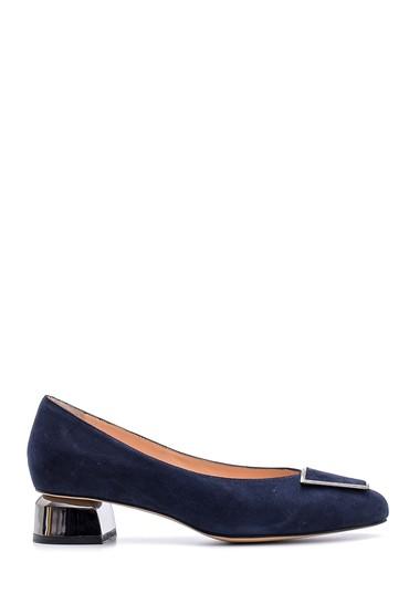 5638122601 Kadın Süet Deri Topuklu Ayakkabı