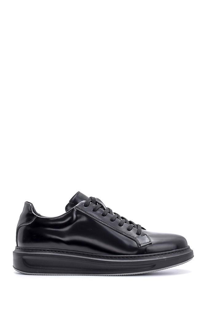 Siyah Erkek Deri Sneaker 5638135018
