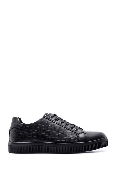 Siyah Erkek Deri Sneaker 5638074132