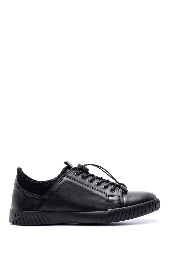 Siyah Erkek Deri Sneaker 5638074373