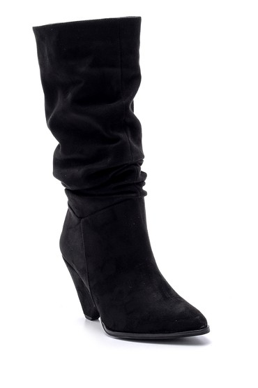 Siyah Kadın Süet Topuklu Çizme 5638102131
