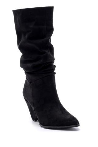 Kadın Süet Topuklu Çizme