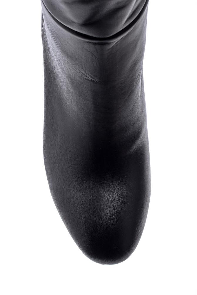 5638113990 Kadın Topuklu Deri Çizme