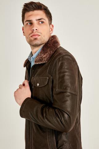 Angelo Erkek Deri Ceket