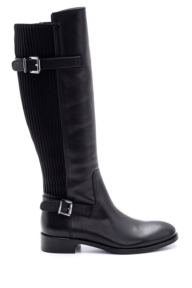 Siyah Kadın Deri Çizme 5638088018