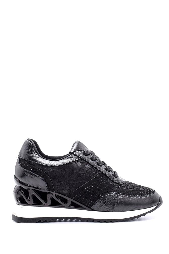 Siyah Kadın Taban Detaylı Sneaker 5638103188