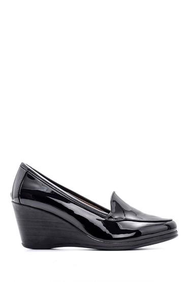 Siyah Kadın Rugan Ayakkabı 5638127554