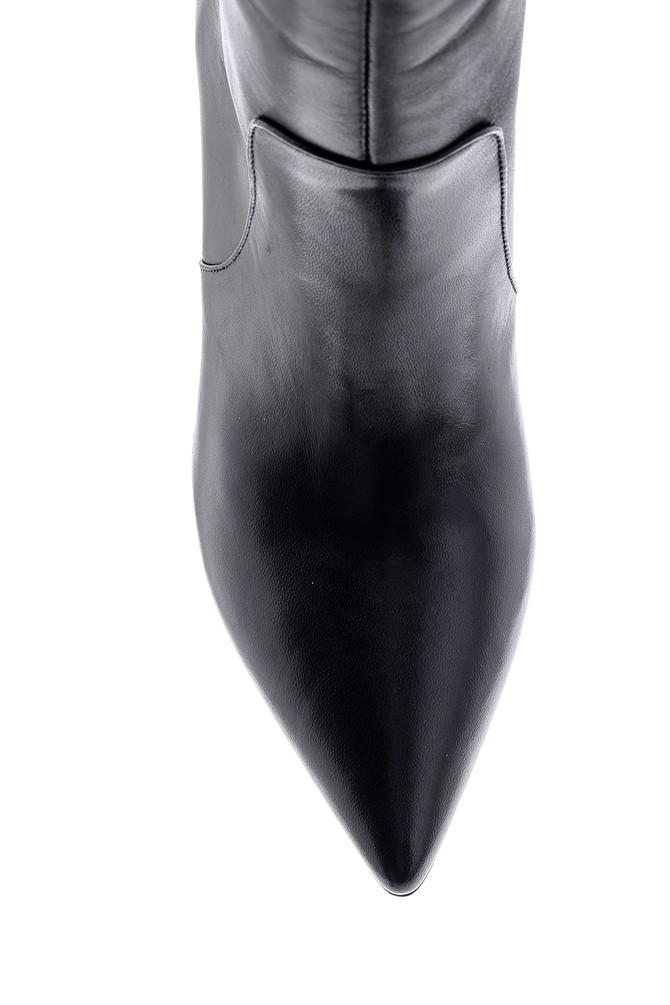 5638098649 Kadın Deri Topuklu Çizme