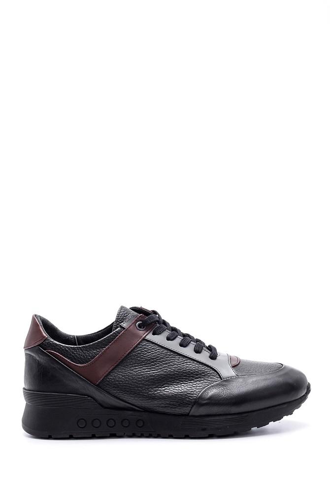 Siyah Erkek Deri Sneaker 5638095762