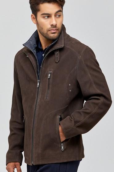 Kahverengi Colombia Erkek Deri Ceket 5638090421