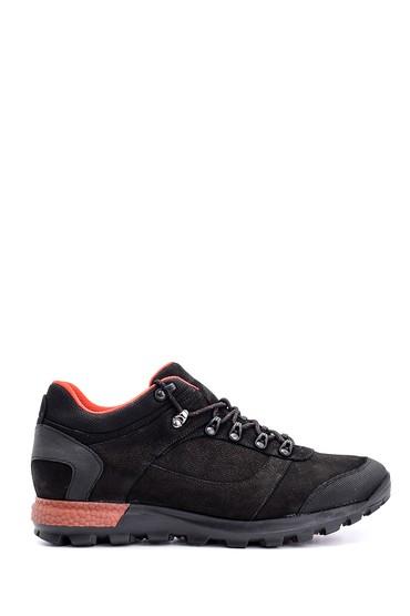 Siyah Erkek Nubuk Deri Sneaker 5638090023