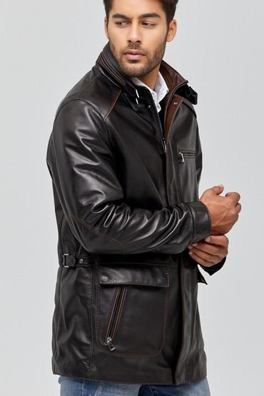 Siyah Casilla Erkek Deri Ceket 5638114755