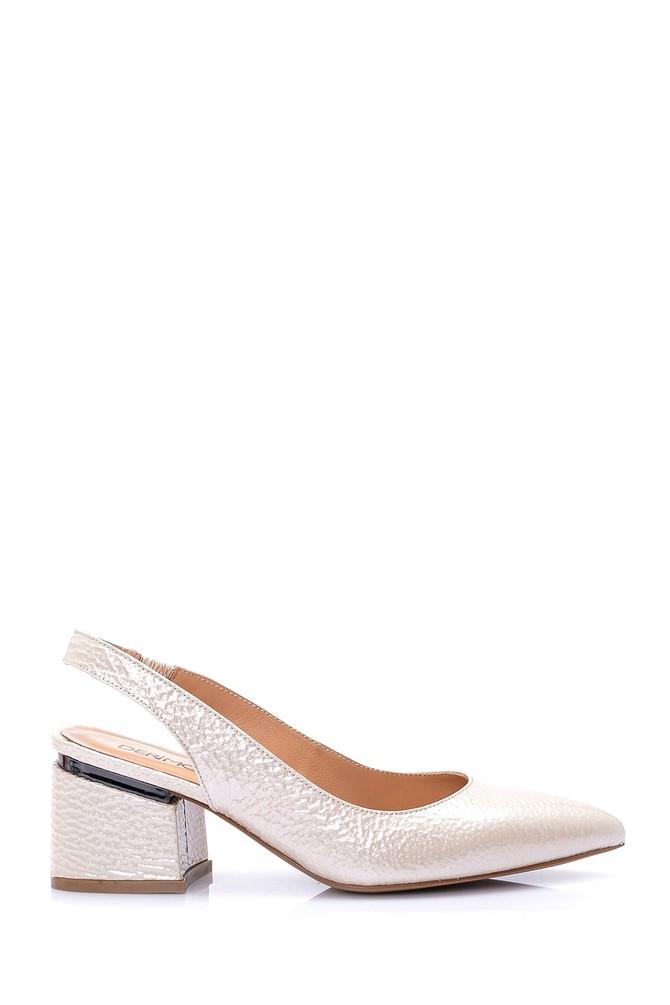 5638026280 Kadın Rugan Deri Topuklu Ayakkabı