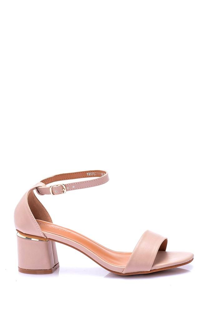 Bej Kadın Topuklu Ayakkabı 5638003945