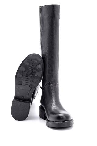 Kadın Toka Detaylı Deri Çizme